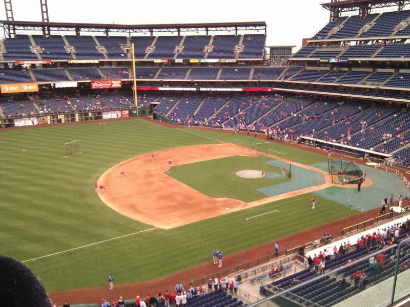 Seating view for Citizens Bank Park Section 329 Row 2 Seat 8