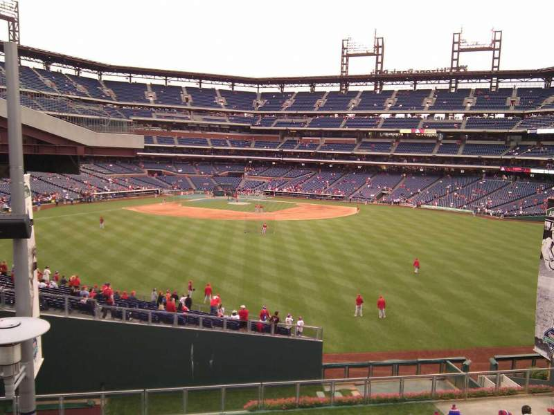 Seating view for Citizens Bank Park Section Bud Light Bleachers Row 1 Seat 25
