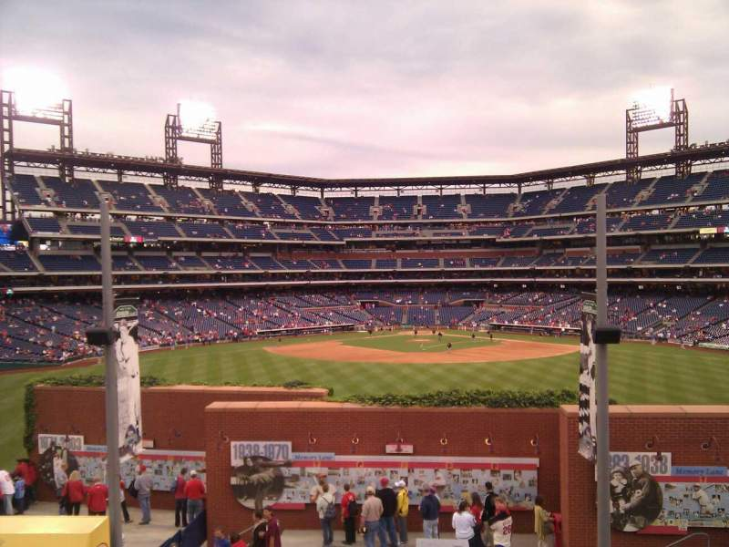 Seating view for Citizens Bank Park Section Budweiser roof top Row standing