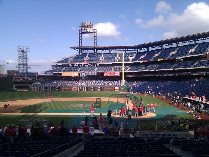 Seating view for Citizens Bank Park Section 128 Row 25 Seat 2