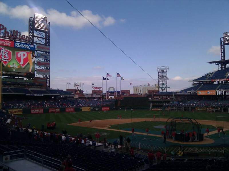 Seating view for Citizens Bank Park Section 125 Row 30 Seat 13