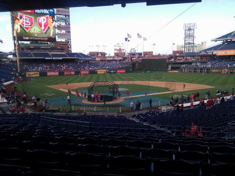 Seating view for Citizens Bank Park Section 122 Row bar rail