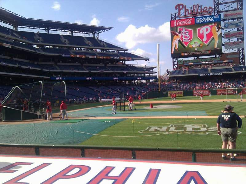 Seating view for Citizens Bank Park Section 117 Row 3 Seat 6