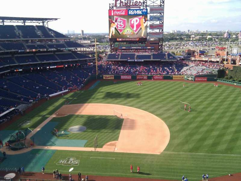 Seating view for Citizens Bank Park Section 414 Row 3 Seat 16