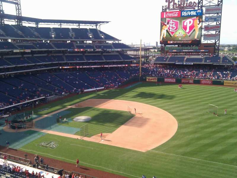 Seating view for Citizens Bank Park Section 313 Row 1 Seat 5