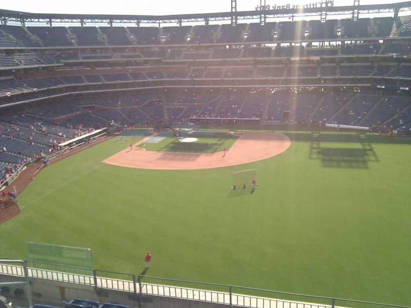 Seating view for Citizens Bank Park Section 301 Row 6 Seat 15