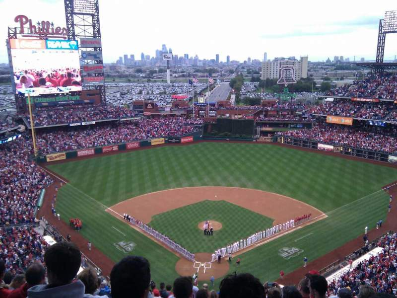 Seating view for Citizens Bank Park Section 420 Row 15 Seat 12