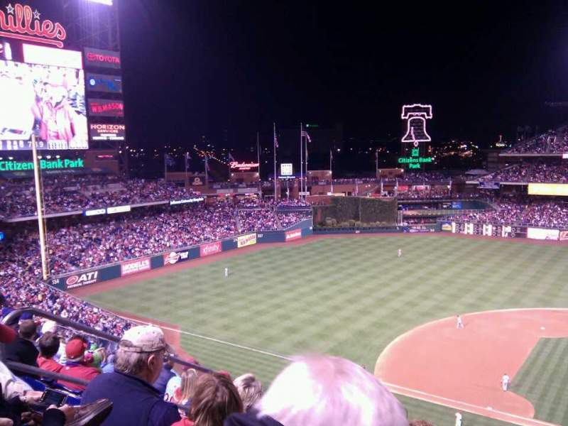 Seating view for Citizens Bank Park Section 325 Row 7 Seat 20