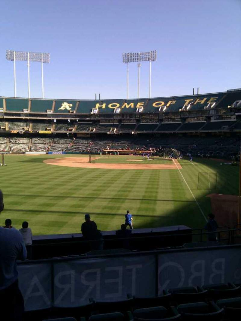 Seating view for Oakland Alameda Coliseum Section 132 Row 27 Seat 13