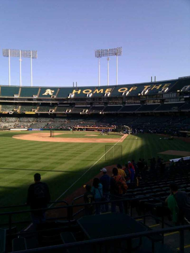 Seating view for Oakland Alameda Coliseum Section 131 Row 23 Seat 9