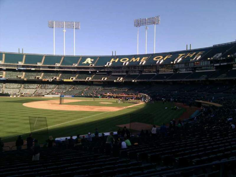 Seating view for Oakland Alameda Coliseum Section 129 Row 24 Seat 12