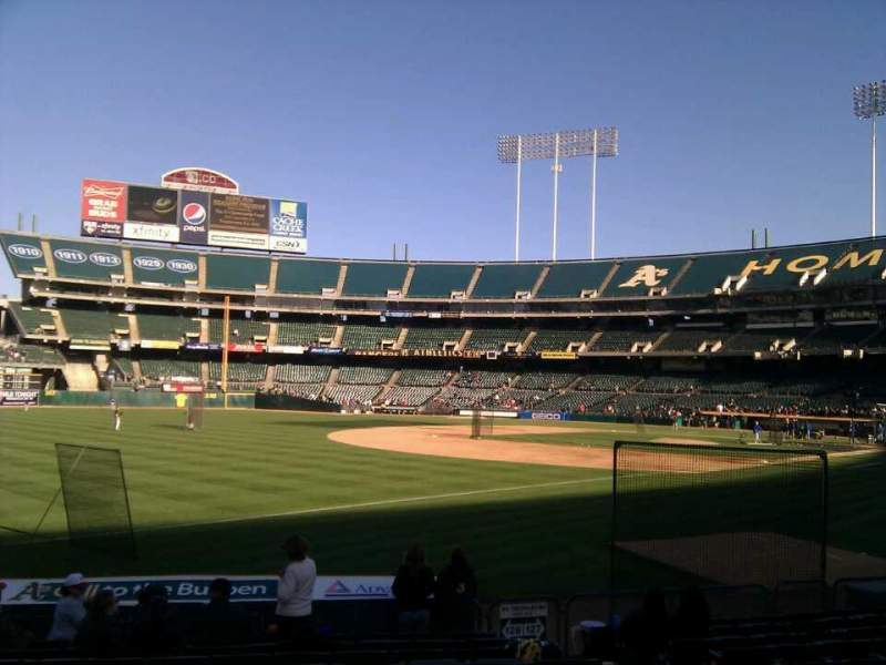 Seating view for Oakland Alameda Coliseum Section 128 Row 12 Seat 7