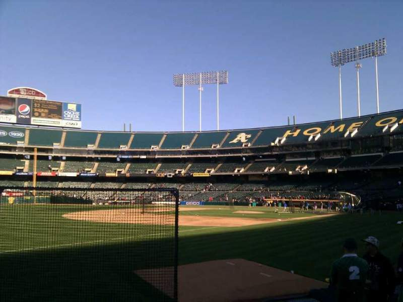 Seating view for Oakland Alameda Coliseum Section 127 Row 7 Seat 10
