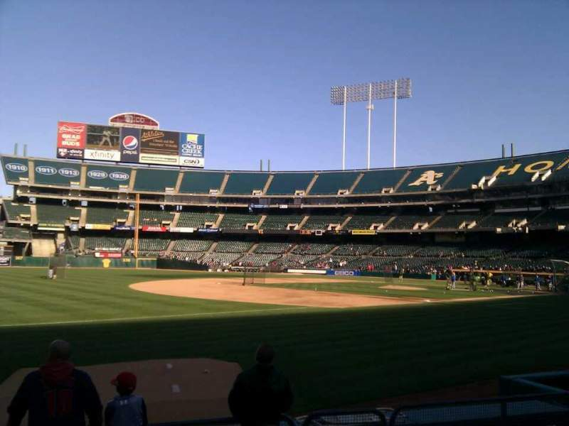 Seating view for Oakland Alameda Coliseum Section 126 Row 7 Seat 13