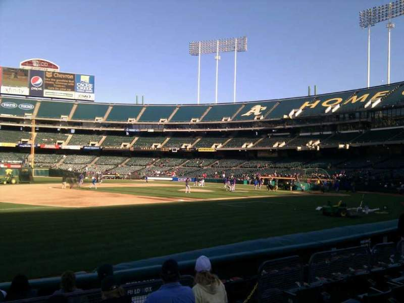 Seating view for Oakland Alameda Coliseum Section 125 Row 6 Seat 6