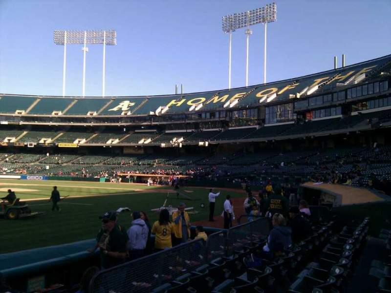 Seating view for Oakland Alameda Coliseum Section 124 Row 5 Seat 5