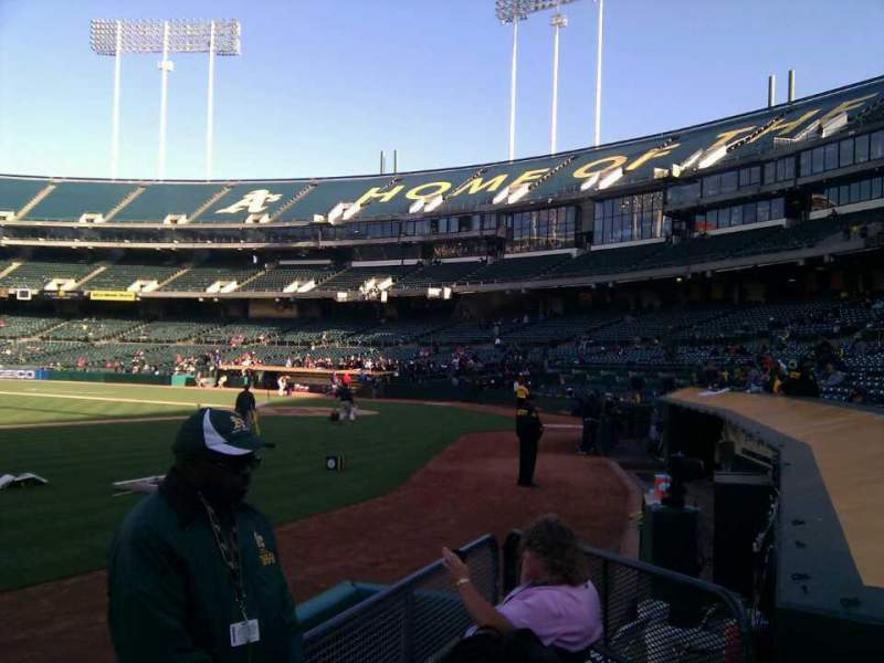 Seating view for Oakland Alameda Coliseum Section 123 Row 3 Seat 3