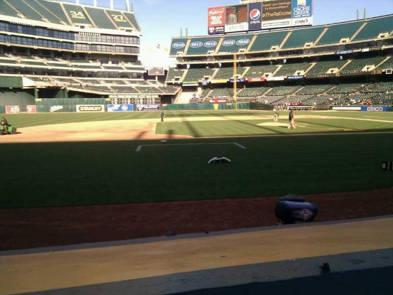 Seating view for Oakland Alameda Coliseum Section 121 Row 6 Seat 5