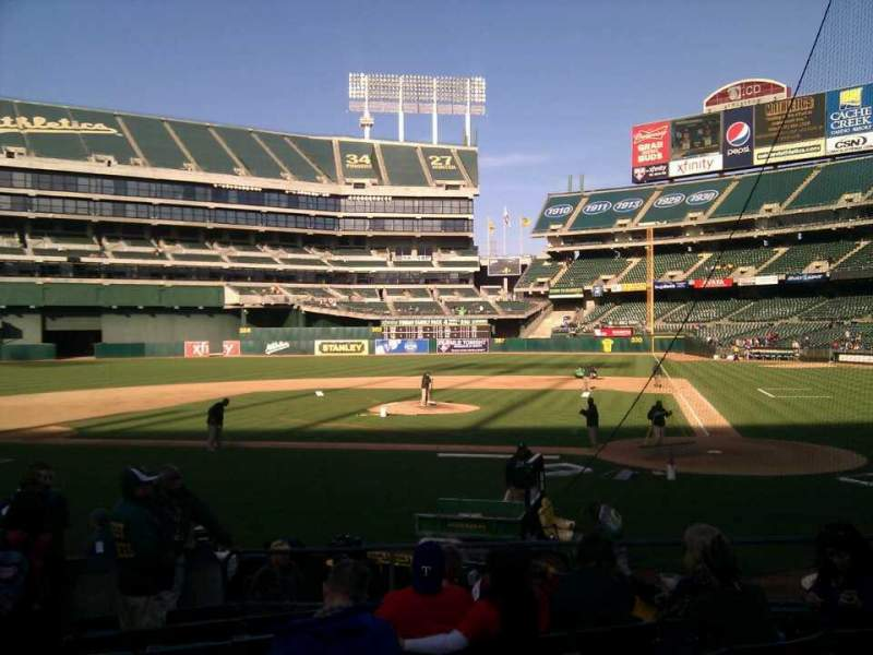 Seating view for Oakland Alameda Coliseum Section 119 Row 14 Seat 15