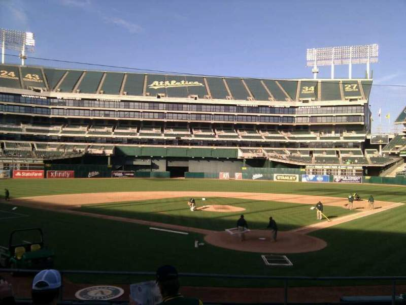 Seating view for Oakland Alameda Coliseum Section 118 Row 19 Seat 5