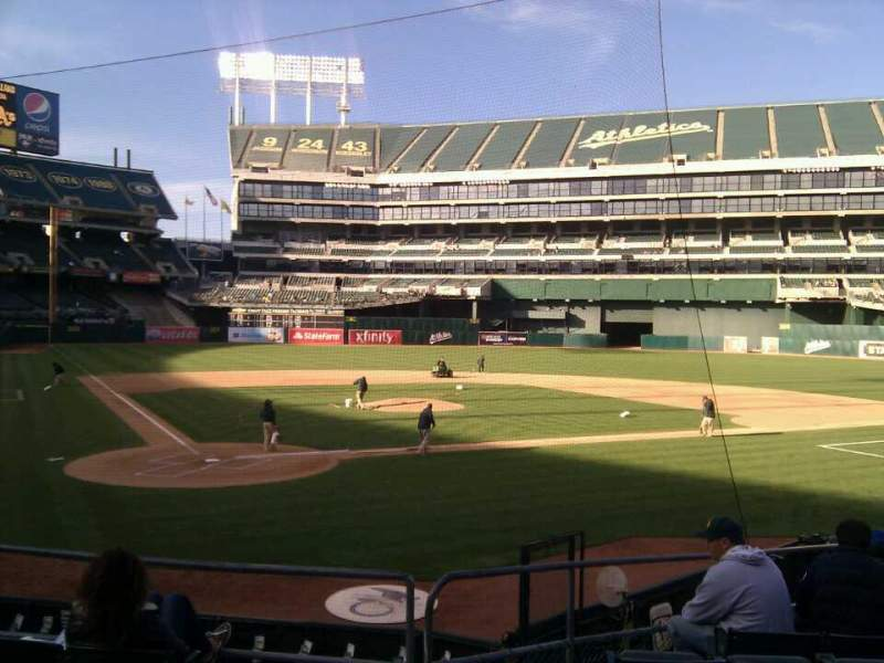 Seating view for Oakland Alameda Coliseum Section 115 Row 18 Seat 16