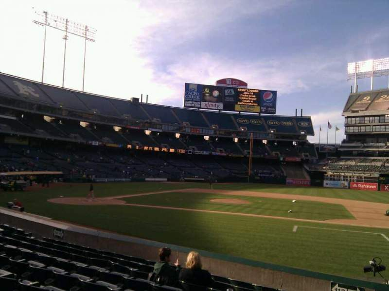 Seating view for Oakland Alameda Coliseum Section 112 Row 13 Seat 15