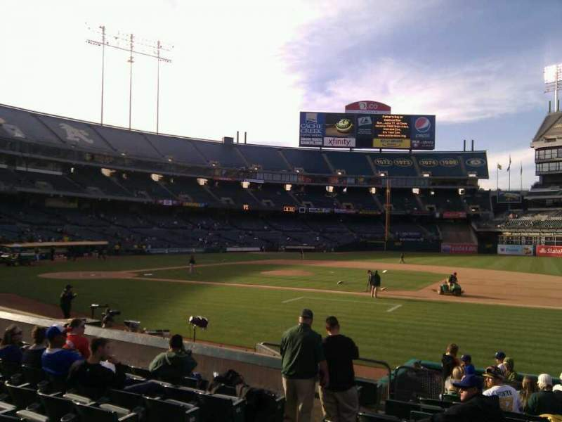 Seating view for Oakland Alameda Coliseum Section 111 Row 12 Seat 8