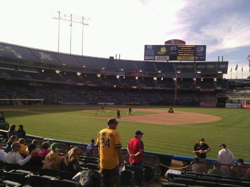 Seating view for Oakland Alameda Coliseum Section 109 Row 11 Seat 13