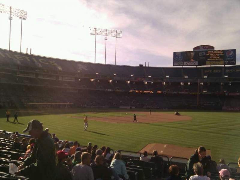 Seating view for Oakland Alameda Coliseum Section 107 Row 14 Seat 14