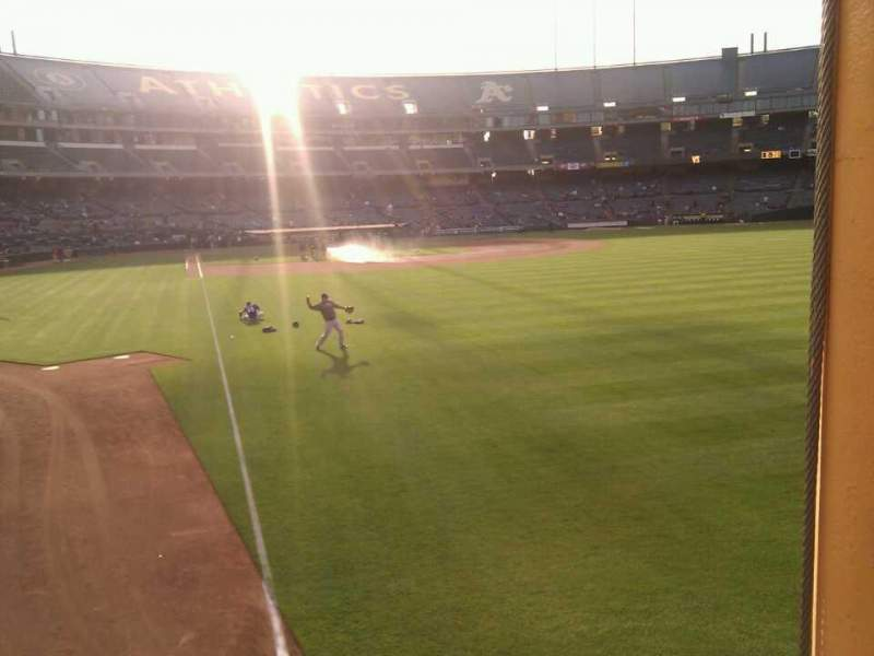 Seating view for Oakland Alameda Coliseum Section 103 Row 17 Seat 6