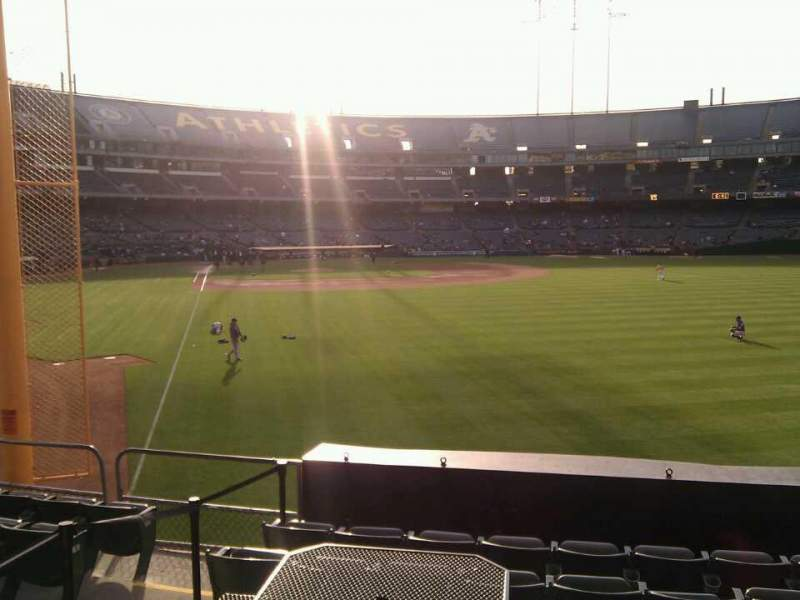 Seating view for Oakland Alameda Coliseum Section 102 Row 22 Seat 13