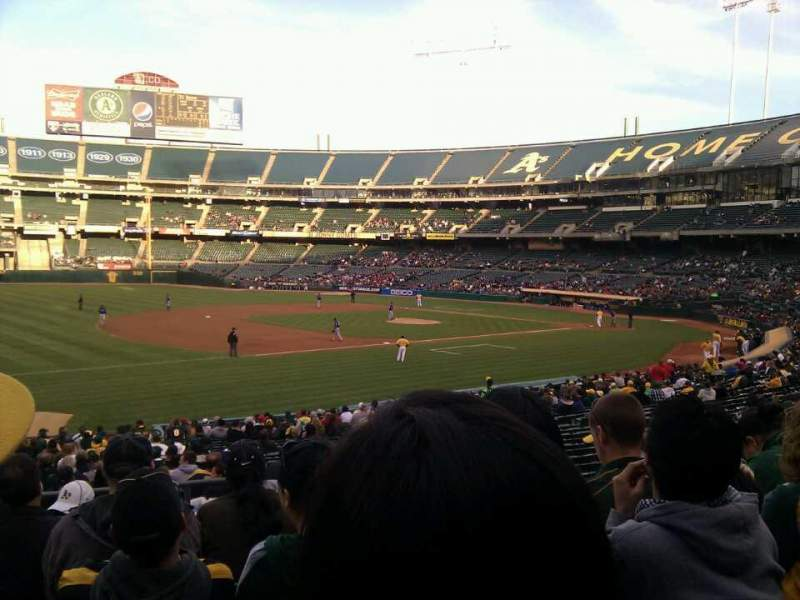 Seating view for Oakland Alameda Coliseum Section 126 Row 27 Seat 7