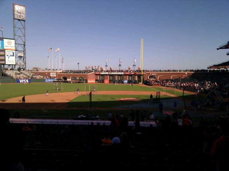 Seating view for AT&T Park Section 122 Row 29 Seat 14