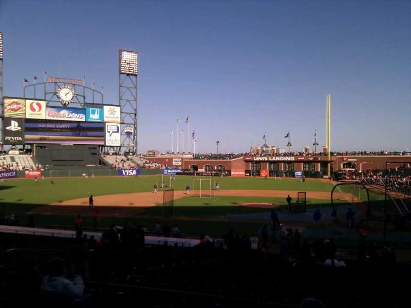 Seating view for AT&T Park Section 121 Row 29 Seat 12