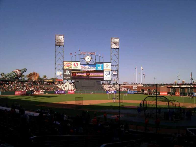 Seating view for AT&T Park Section 119 Row 26 Seat 9
