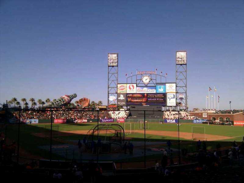 Seating view for AT&T Park Section 115 Row 26 Seat 9