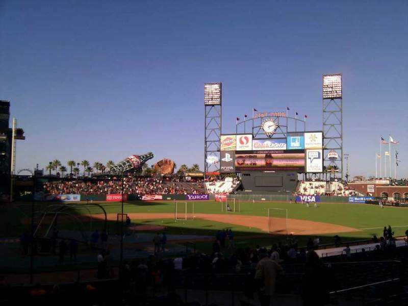 Seating view for AT&T Park Section 112 Row 26 Seat 10
