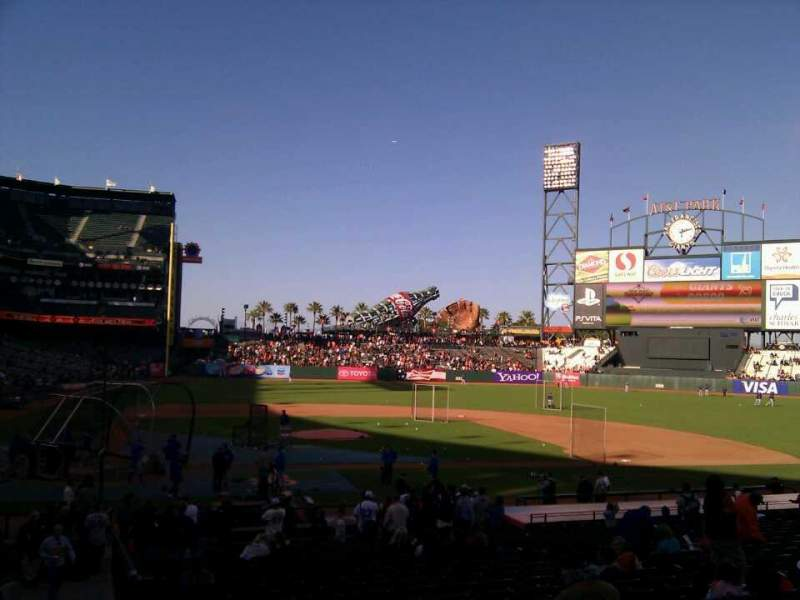 Seating view for AT&T Park Section 110 Row 26 Seat 10
