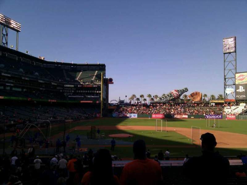 Seating view for AT&T Park Section 109 Row 26 Seat 10