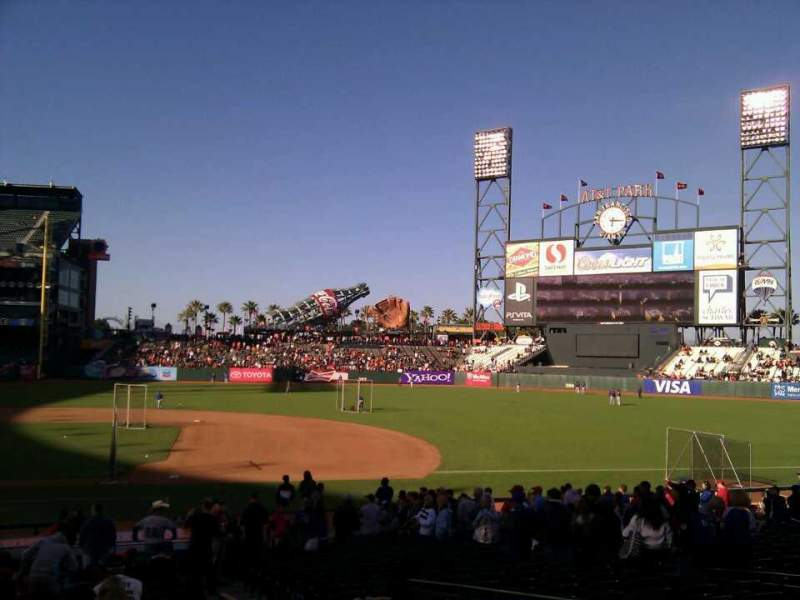 Seating view for AT&T Park Section 107 Row 25 Seat 14