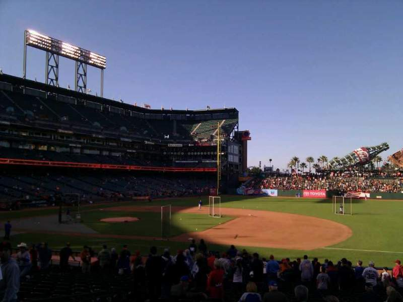 AT&T Park, section: 106, row: 25, seat: 110