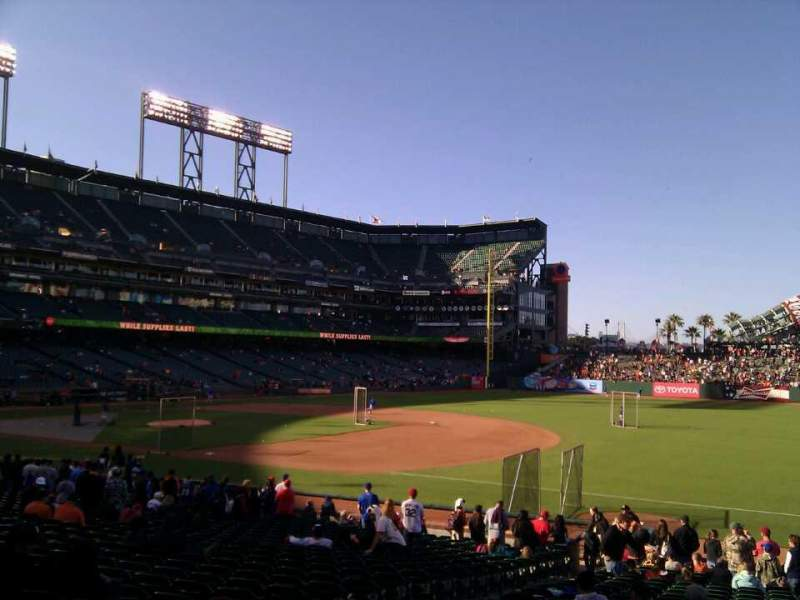 Seating view for AT&T Park Section 104 Row 25 Seat 11