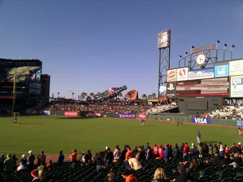 Seating view for AT&T Park Section 102 Row 22 Seat 14
