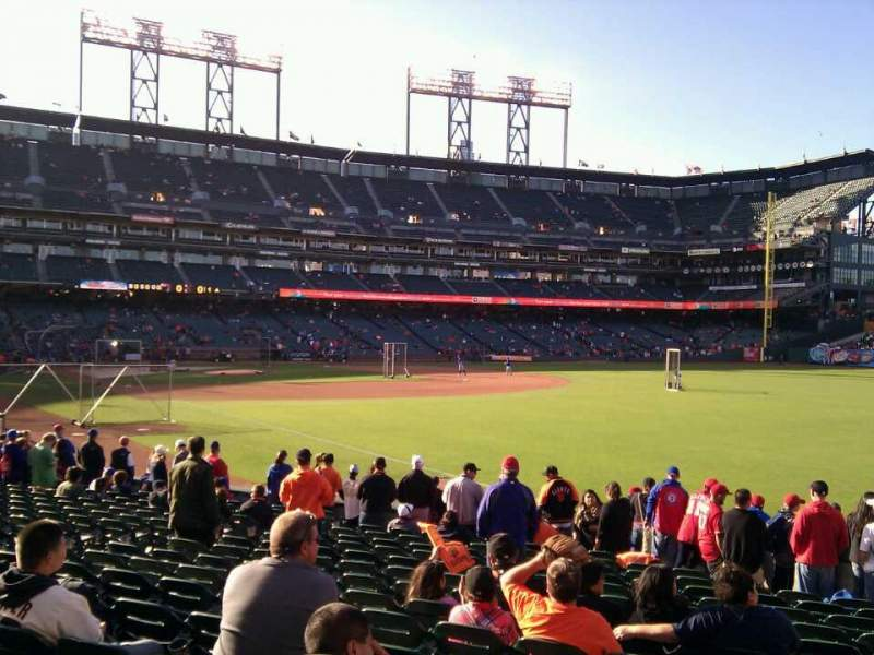 AT&T Park, section: 101, row: 17, seat: 4