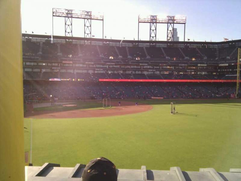 Seating view for AT&T Park Section 150 Row 2 Seat 4