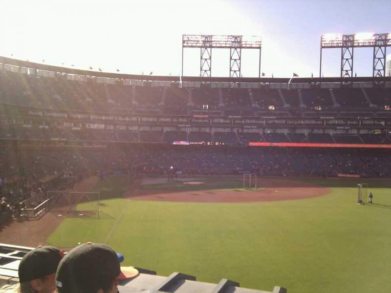 Seating view for Oracle Park Section 149 Row 2 Seat 4