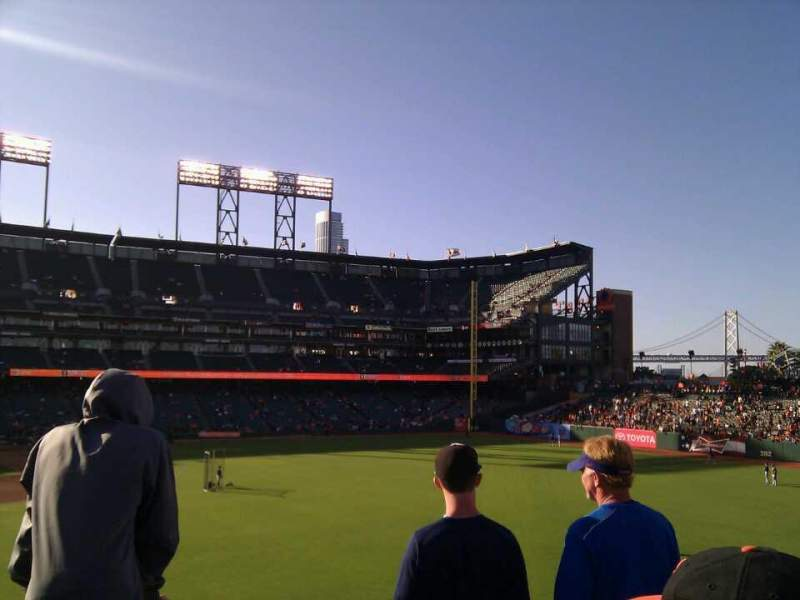 Seating view for AT&T Park Section 148 Row 2