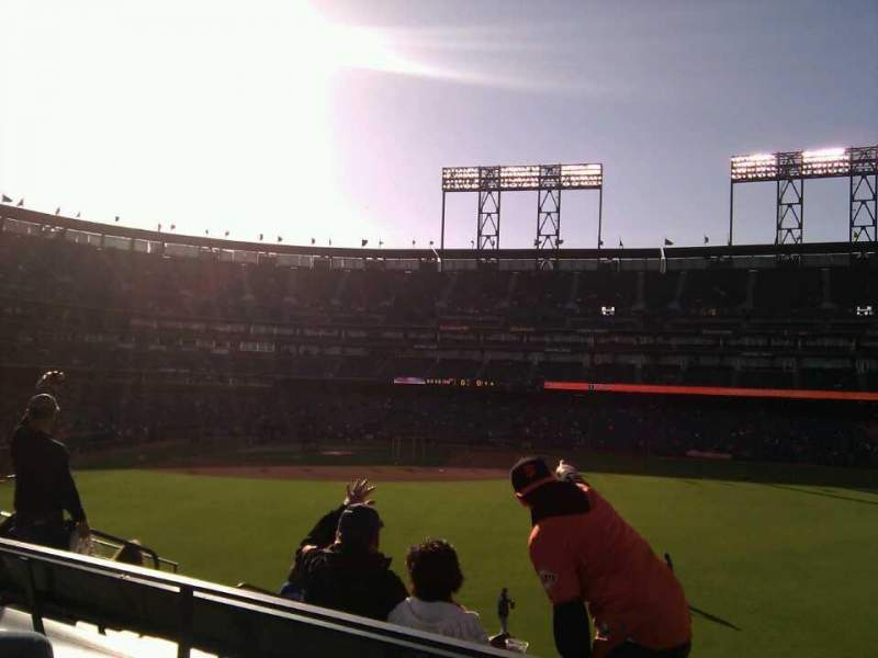 Seating view for AT&T Park Section 106 Row 3