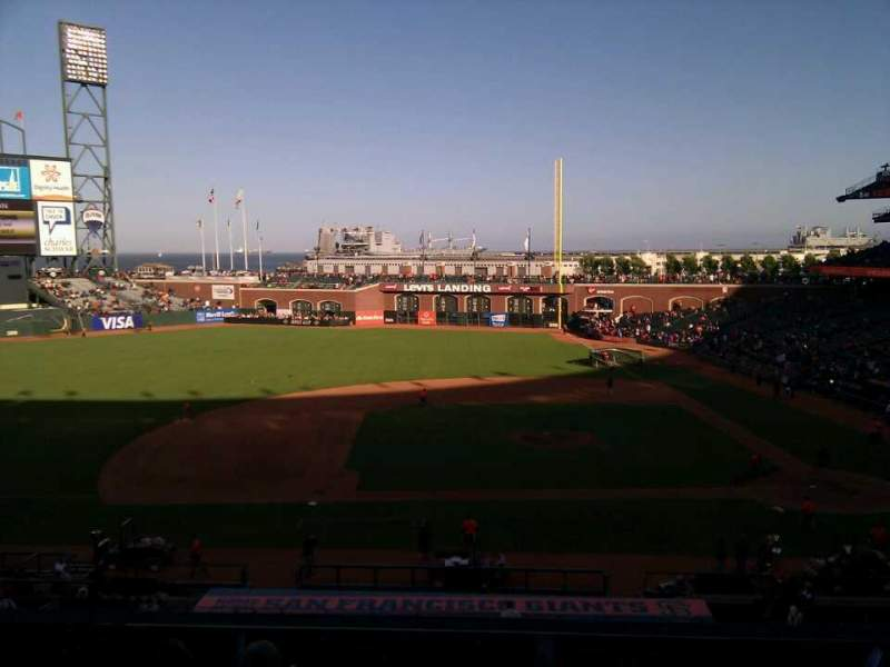 Seating view for AT&T Park Section 222 Row g Seat 11