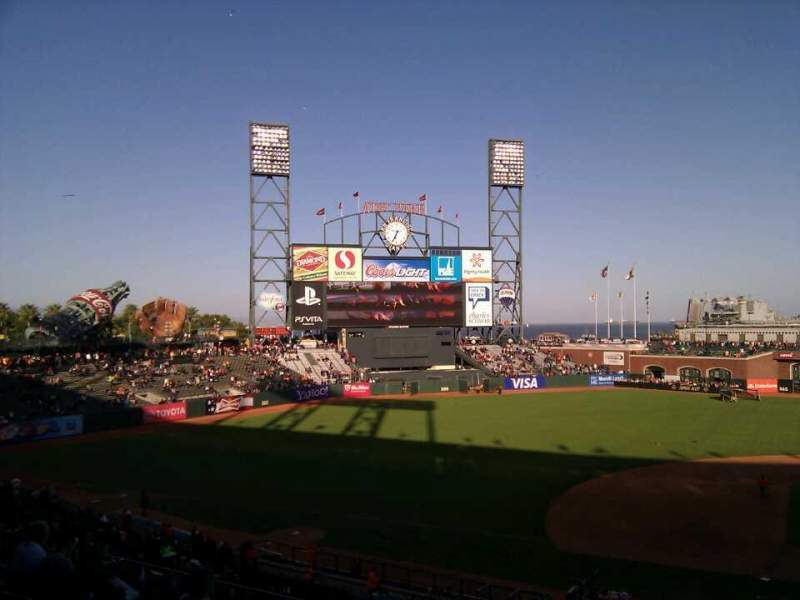 Seating view for AT&T Park Section 223 Row g Seat 1